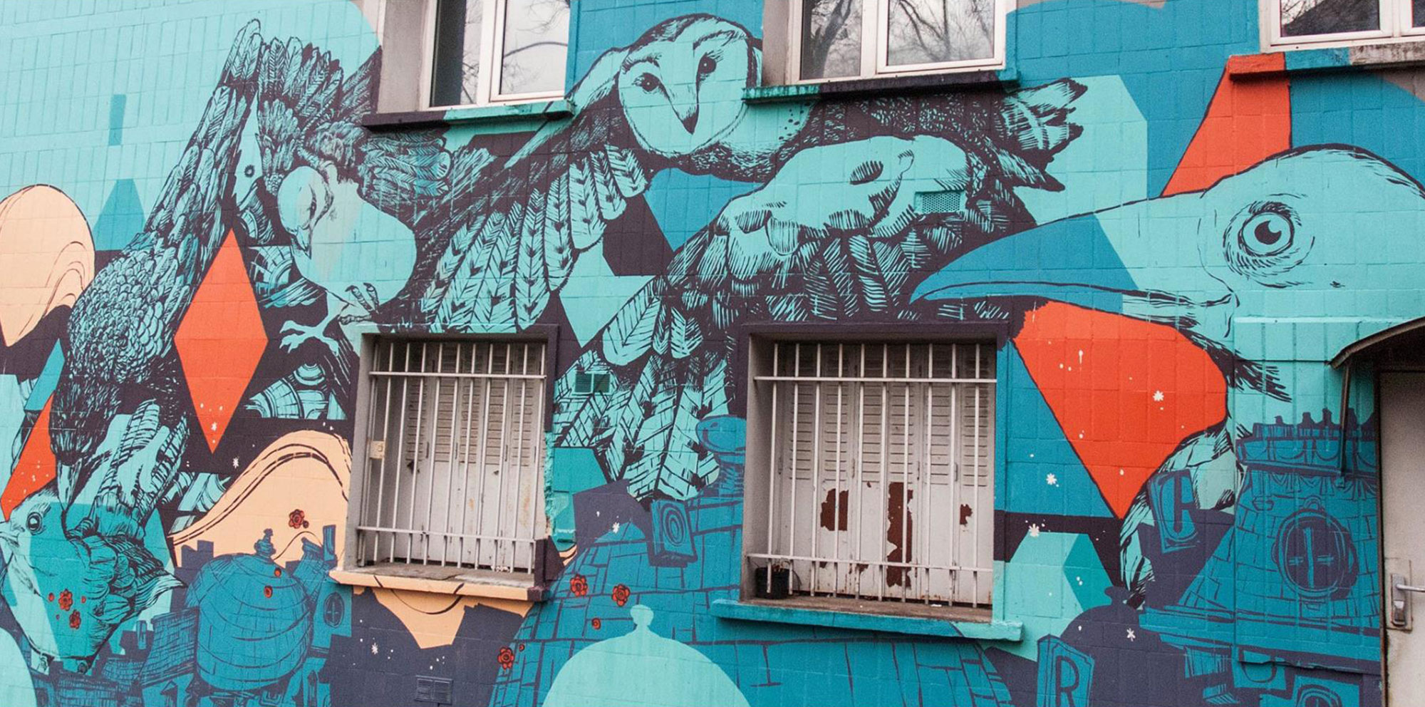 Retro--mur-oiseaux